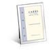 Carrs FNPR3/W sileä 13x9 hopeinen valokuvakehys