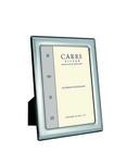 Carrs FR073/W 13x9 hopeinen valokuvakehys helmireunalla