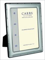 Carrs FR263/W 13x9 hopeinen valokuvakehys ruksireunalla
