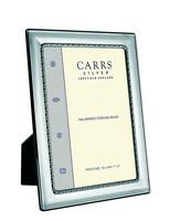 Carrs FR084/W 15x10 hopeinen valokuvakehys oliivi/pallokuviolla