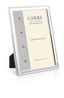 Carrs NBR4 18x13 hopeinen valokuvakehys helmireunalla