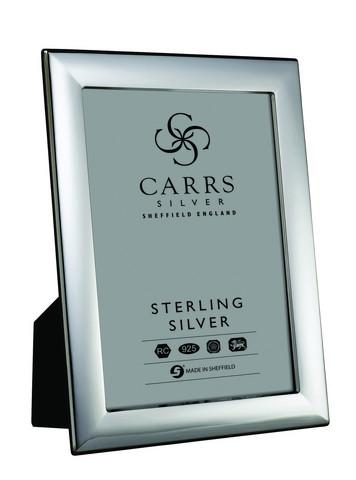 Carrs FR294/L sileä 15x10 hopeinen valokuvakehys