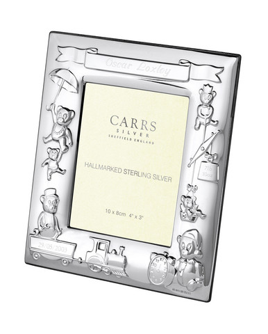 Carrs CR3 10x8 lasten hopeinen valokuvakehys