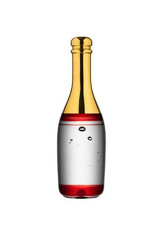 Kosta Boda punainen Celebrate samppanjapullo