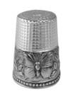 Hopeinen sormustin GT487 perhosella
