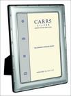 Carrs FR264/W 15x10 hopeinen valokuvakehys ruksireunalla