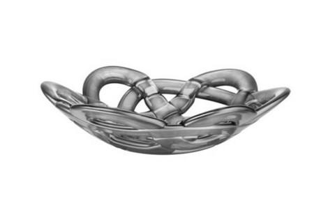 Kosta Boda hopean värinen Basket kulho