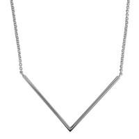 Sac Silverin hopeinen V-palkki kaulakoru