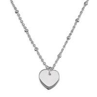 Sac Silverin H2123-46 hopeinen sydän kaulakoru