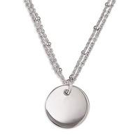 Sac Silverin hopeinen H2125-51 laatta kaulakoru