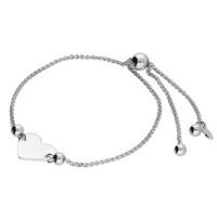 Sac Silverin hopeinen H3871/S sydän rannekoru