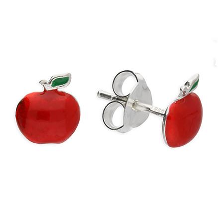 SAC Silverin H4357 hopeiset omena korvakorut