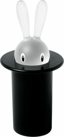 Alessi ASG16 B musta Magic Bunny hammastikkuteline