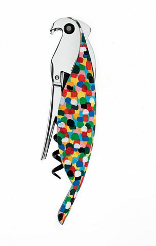 Alessi AAM32 1 pilkullinen Parrot korkinavaaja