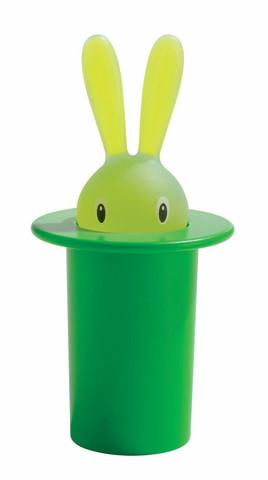 Alessi ASG16 GR vihreä Magic Bunny hammastikkuteline