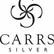 Carrs FR063/W sileä 13x9 hopeinen valokuvakehys mahonki taustalla