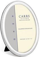 Carrs NBO2 9x6 ovaali hopeinen valokuvakehys helmireunalla