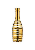 Kosta Boda kultaraitainen Celebrate samppanjapullo