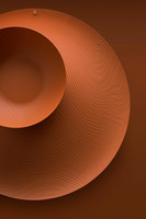Alessi PU06/29 BR ruskea Veneer kulho