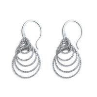 SAC Silver R8710 hopeiset spiraali korvakorut
