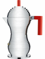 Alessi MDL02/6RFM Pulcina espressokeitin