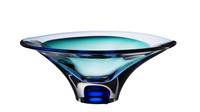 Kosta Boda sininen Vision design malja