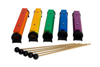 11405 Rainbow sound tubes 5 kpl.