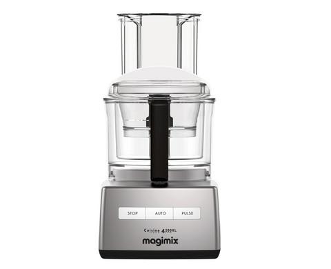 Magimix CS 4200 XL monitoimikone matta kromi 3,0 l kolmella kulholla