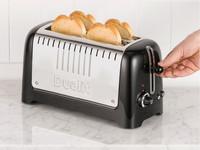 Dualit Lite leivänpaahdin 46065 musta kahdella pitkällä paahtoaukolla