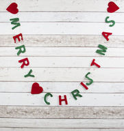 Merry Christmas - ripustettava Hyvän Joulun toivotus, huopaa