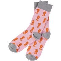 Ladies Cotton Pink Seahorse Ankle Socks