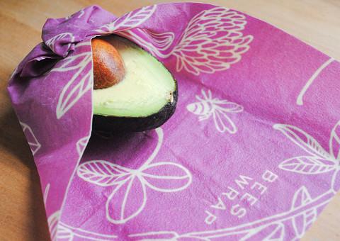 Bee's wrap 3- pakkaus kaikki koot (small, medium, large) Clover Print-Mimi's Purple
