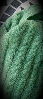 Palmikkohuivi, vaal.vihreä