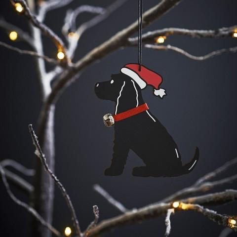 Joulukoriste, musta Cockerspanieli
