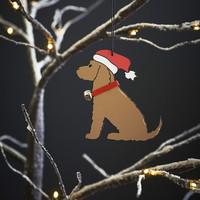 Joulukoriste, ruskea Cockerspanieli