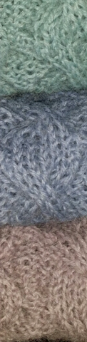 Alpakkahuivi, useita värejä