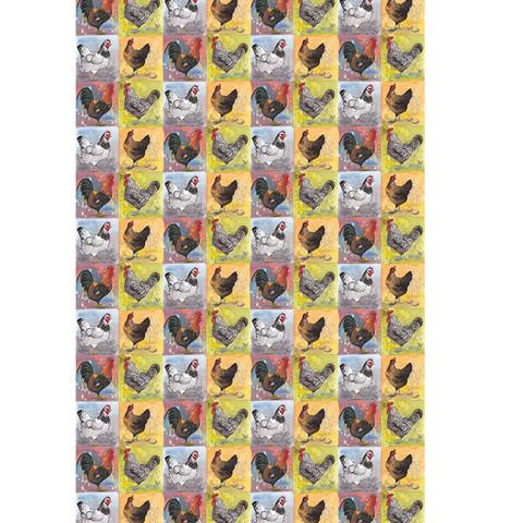 Keittiöpyyhe Checkerboard chickens