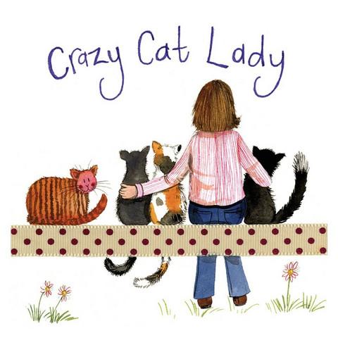 Lasinalunen Crazy cat lady