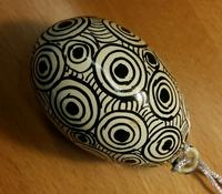 Dekoration påskägg, svart/vit