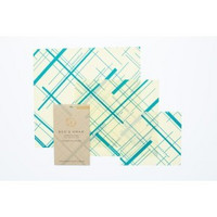 Bee's wrap 3- pakkaus kaikki koot (small, medium, large) Geometric Print-Everybody's Teal