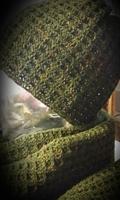 Tweedhuivi, tummanvihreä