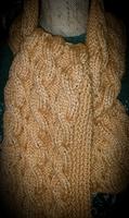 Palmikkohuivi, alpakkaa ja silkkiä