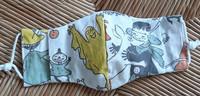 Kotimainen lasten kasvomaski by ROSOA, erilaisia kangasvaihtoehtoja