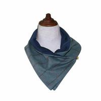 Tweedhuivi, teräksen sininen