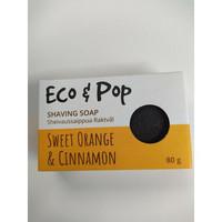Eco&Pop Sheivaus-/kylpysaippua Sweet Orange & Cinnamon, 80 g