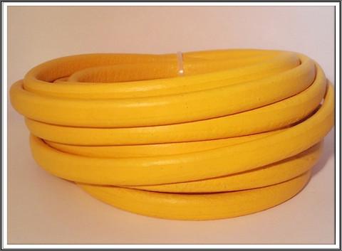 Nahkanauha Regaliz®, 10 x 7 mm, sileä, keltainen
