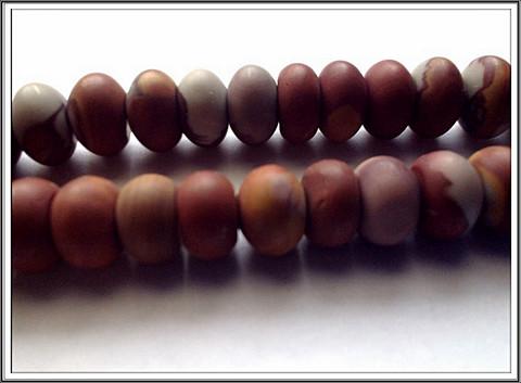 Noreena jaspis, rondelli 5 x 9 mm, matta, ½ nauha