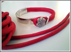 Silkkinauha, täytetty pyöreä Ø 4 mm, punainen