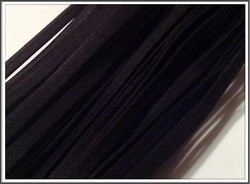 Nahkanauha, 5 x 2 mm, sileä Nappa, musta