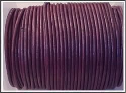 Nahkanauha pyöreä Ø 2 mm, metalli violetti, metri